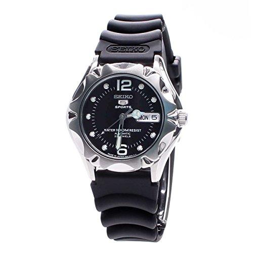 セイコー 腕時計 メンズ SNZ453J2 Seiko 5 Sports Black Dial Black Rubber Unisex Watch SNZ453J2セイコー 腕時計 メンズ SNZ453J2