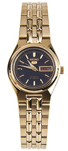 セイコー 腕時計 レディース SYMA06 【送料無料】Women's Seiko 5 Automatic Gold Tone Dress Watch Black Dialセイコー 腕時計 レディース SYMA06