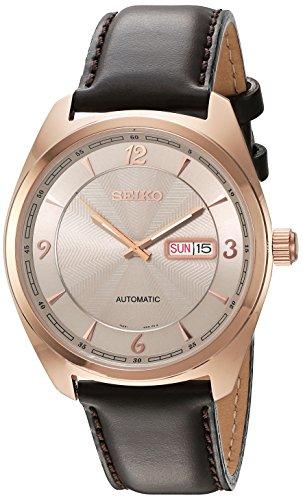 セイコー 腕時計 メンズ SNKN72 【送料無料】Seiko Men's 'Recraft Series' Japanese Automatic Gold and Brown Leather Dress Watch (Model: SNKN72)セイコー 腕時計 メンズ SNKN72