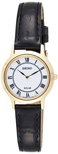 セイコー 腕時計 レディース Solar Damen Seiko Women's Quartz Watch with Black Dial Analogue Display Quartz Leather SUP304P1セイコー 腕時計 レディース Solar Damen