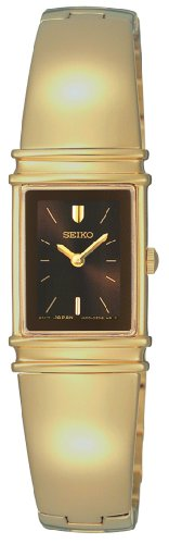セイコー 腕時計 レディース SUJG12 【送料無料】Seiko Women's SUJG12 Jewelry Gold-Tone Brown Dial Bangle Watchセイコー 腕時計 レディース SUJG12
