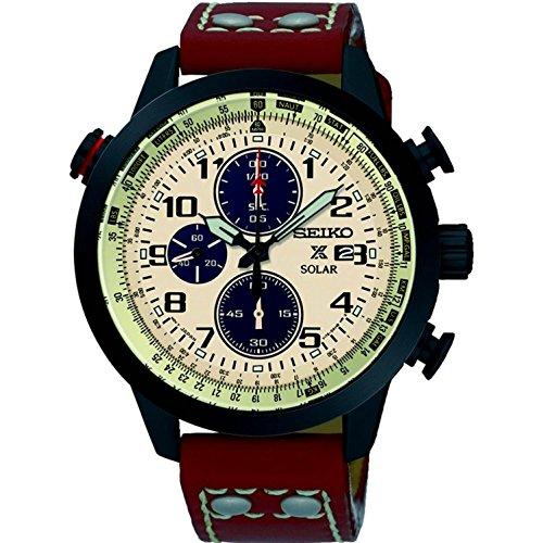 セイコー 腕時計 メンズ SSC425 Seiko SSC425 Men's Prospex Chronograph Leather 43mm Watchセイコー 腕時計 メンズ SSC425