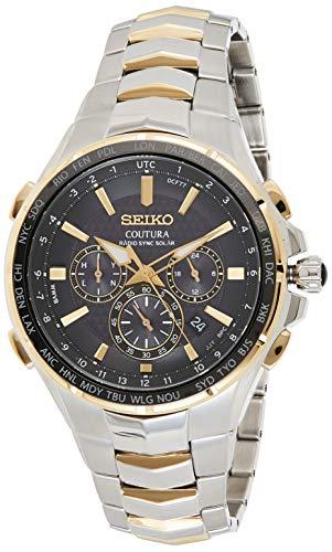 【送料無料】セイコー コーチュラ 電波ソーラークロノグラフ 腕時計 メンズ SSG010 逆輸入