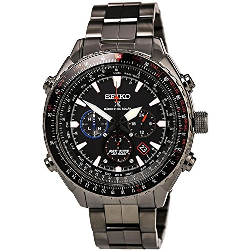 セイコー 腕時計 メンズ SSG007 【送料無料】Seiko Men's Stainless Steel Radio Controlled Limited Edition068/2000 Patriots Jet Watchセイコー 腕時計 メンズ SSG007