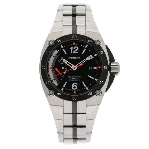 セイコー 腕時計 メンズ SRG005 【送料無料】Seiko Men's SRG005 Sportura Stainless Steel Black Dial Silver Watchセイコー 腕時計 メンズ SRG005