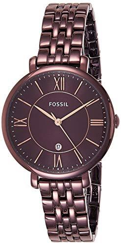 フォッシル 腕時計 レディース ES4100 Fossil Women's Jacqueline Quartz Stainless Steel Dress Watch, Color: Purple (Model: ES4100)フォッシル 腕時計 レディース ES4100