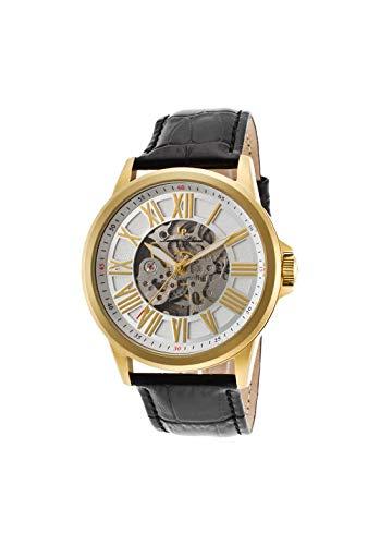 ルシアンピカール 腕時計 メンズ LP-12683A-YG-02S Lucien Piccard Men's 'Calypso' Automatic Stainless Steel and Black Leather Casual Watch (Model: LP-12683A-YG-02S)ルシアンピカール 腕時計 メンズ LP-12683A-YG-02S