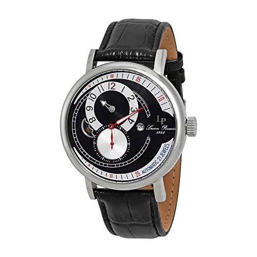 ルシアンピカール 腕時計 メンズ LP-15157-01 【送料無料】Lucien Piccard Men's 'Supernova' Automatic Stainless Steel and Black Leather Casual Watch (Model: LP-15157-01)ルシアンピカール 腕時計 メンズ LP-15157-01