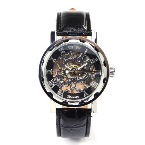 スチームパンク steampunk メンズ 腕時計 懐中時計 US New Mens Steampunk Hand Winding Skeleton Analogue Mechanical Wristwatch with Gift Boxスチームパンク steampunk メンズ 腕時計 懐中時計