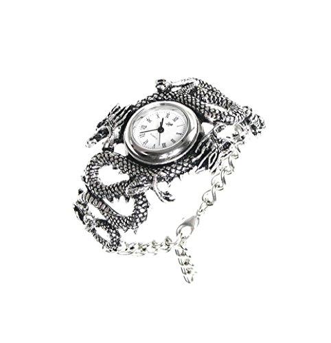 スチームパンク steampunk メンズ 腕時計 懐中時計 AW16 Alchemy Gothic Men Casual Watches Alchemy Gothic Imperial Dragon Watch 2.76 X 1.77 X 1.38 Inches Silver Model # AW16スチームパンク steampunk メンズ 腕時計 懐中時計 AW16