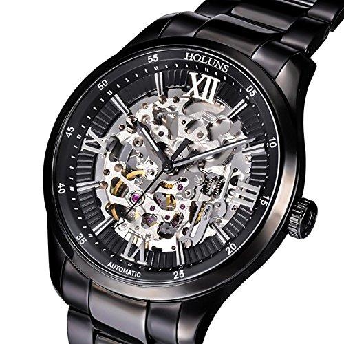 スチームパンク steampunk メンズ 腕時計 懐中時計 Gosasa Men's Black Skeleton Steampunk Automatic Mechanical Wrist Watchスチームパンク steampunk メンズ 腕時計 懐中時計