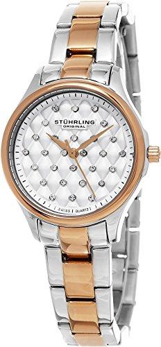 ストゥーリングオリジナル 腕時計 レディース 783.02 【送料無料】Stuhrling Original Women's 783.02 Symphony Quilted Dial Two Tone Stainless Steel Watchストゥーリングオリジナル 腕時計 レディース 783.02