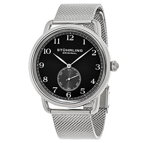ストゥーリングオリジナル 腕時計 メンズ 207M.02 【送料無料】Stuhrling Original Men's 207M.02 Classique Swiss Quartz Stainless Steel Mesh Watch with Black Dialストゥーリングオリジナル 腕時計 メンズ 207M.02