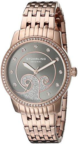 ストゥーリングオリジナル 腕時計 レディース 569.05 【送料無料】Stuhrling Original Women's 569.05 Coronet Quartz Swarovski Crystals Rose Tone Multi-Row Link Bracelet Watchストゥーリングオリジナル 腕時計 レディース 569.05