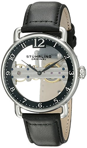 ストゥーリングオリジナル 腕時計 メンズ 976.01 【送料無料】Stuhrling Original Men's 976.01 Bridge Stainless Steel Mechanical Hand-Wind Watch With Black Leather Bandストゥーリングオリジナル 腕時計 メンズ 976.01