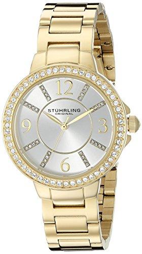 ストゥーリングオリジナル 腕時計 レディース 480.04 Stuhrling Original Women's 480.04 Allure Gold-Tone Stainless Steel Bracelet Watchストゥーリングオリジナル 腕時計 レディース 480.04