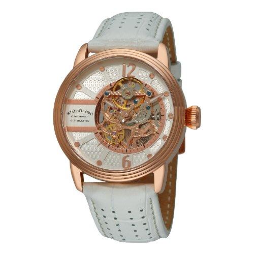 ストゥーリングオリジナル 腕時計 メンズ 308A.3345P34 【送料無料】Stuhrling Original Men's 308A.3345P34 Prospero Classic Automatic Skeleton White Watchストゥーリングオリジナル 腕時計 メンズ 308A.3345P34