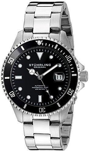 ストゥーリングオリジナル 腕時計 メンズ 792.01 Stuhrling Original Men's 792.01 Aquadiver Analog Display Automatic Self-Wind Silver-Tone Watchストゥーリングオリジナル 腕時計 メンズ 792.01