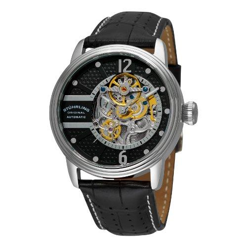 ストゥーリングオリジナル 腕時計 メンズ 308A.33151 【送料無料】Stuhrling Original Mens Watch - Automatic Self Winding Dress Watch - Skeleton Watches for Men - Leather Watch Strap Mechanical Watchストゥーリングオリジナル 腕時計 メンズ 308A.33151