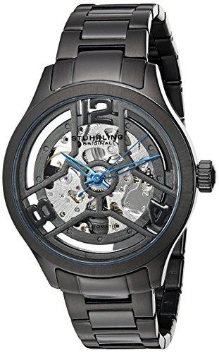 ストゥーリングオリジナル 腕時計 メンズ 784.02 【送料無料】Stuhrling Original Men's 784.02 Symphony Automatic Self Wind Black Link Bracelet Skeleton Watchストゥーリングオリジナル 腕時計 メンズ 784.02