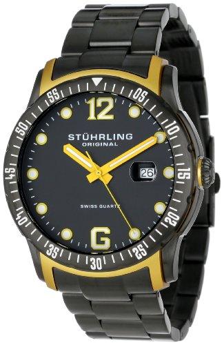 ストゥーリングオリジナル 腕時計 メンズ 421.335B65 【送料無料】Stuhrling Original Men's 421.335B65 Octane Concorso Trofeo Swiss Quartz Date Black Bracelet Watchストゥーリングオリジナル 腕時計 メンズ 421.335B65