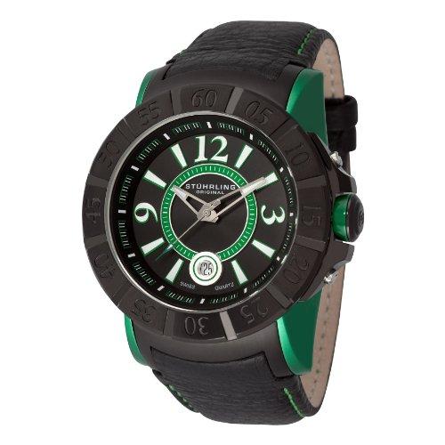 ストゥーリングオリジナル 腕時計 メンズ 543.332P571 【送料無料】Stuhrling Original Men's 543.332P571 Lifestyle Sentry Quartz Black PVD Watchストゥーリングオリジナル 腕時計 メンズ 543.332P571