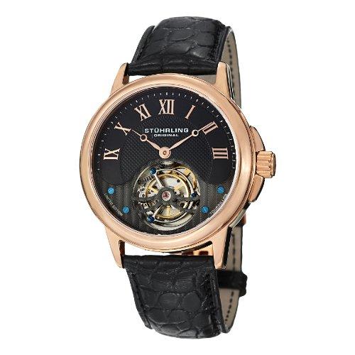 ストゥーリングオリジナル 腕時計 メンズ 541.334XK1 【送料無料】Stuhrling Original Men's 541.334XK1 Aureate Tourbillon Date Blackストゥーリングオリジナル 腕時計 メンズ 541.334XK1