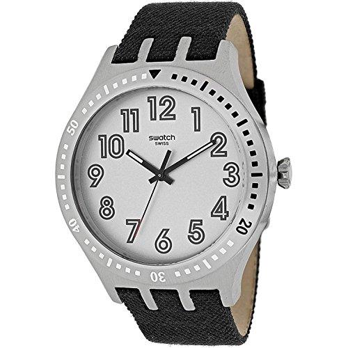 スウォッチ 腕時計 メンズ YTS100 Swatch Men's Stainless Steel Quartz Watch with Canvas Strap, Grey, 20 (Model: YTS100)スウォッチ 腕時計 メンズ YTS100