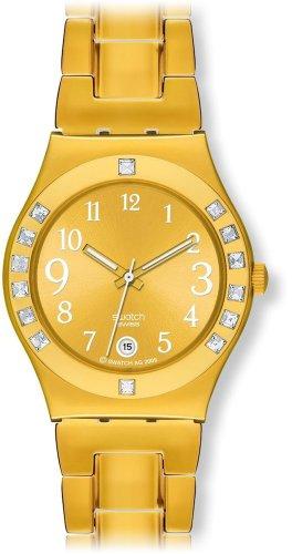 スウォッチ 腕時計 レディース YLG404G 【送料無料】Swatch Women's YLG404G Fancy Me Gold Dial and Bracelet Watchスウォッチ 腕時計 レディース YLG404G