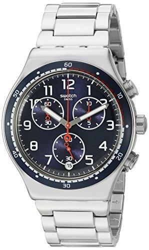 スウォッチ 腕時計 メンズ YVS426G Swatch Men's 'Swatchour' Quartz Stainless Steel Watch, Color:Silver-Toned (Model: YVS426G)スウォッチ 腕時計 メンズ YVS426G