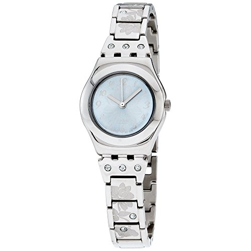 スウォッチ 腕時計 レディース YSS222G 【送料無料】Swatch Flowerbox Blue Dial Stainless Steel Ladies Watch YSS222Gスウォッチ 腕時計 レディース YSS222G