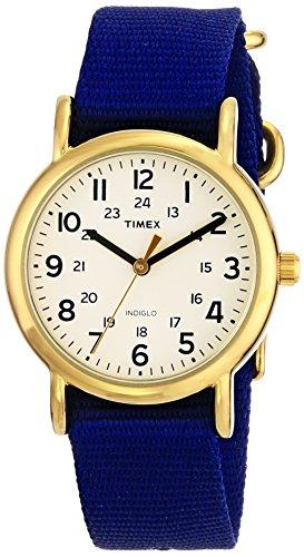 タイメックス 腕時計 メンズ T2P4759J Timex Unisex T2P4759J Weekender Gold-Tone Watch with Blue Nylon Bandタイメックス 腕時計 メンズ T2P4759J