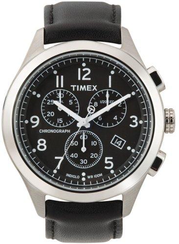 タイメックス 腕時計 メンズ T2M467 Timex Men's T2M467 T Series Chronograph Black Leather Strap Watchタイメックス 腕時計 メンズ T2M467