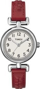 タイメックス 腕時計 レディース Unisex Timex T2N661Wmns Petite Red Leather Strap White dialタイメックス 腕時計 レディース