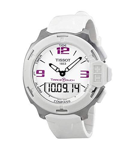 ティソ 腕時計 メンズ T0814201701700 【送料無料】Tissot T-Race Analog Digital White Rubber Mens Watch T0814201701700ティソ 腕時計 メンズ T0814201701700
