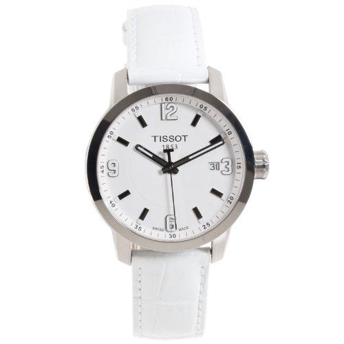 ティソ 腕時計 レディース T0554101601700 Tissot Womens PRC 200 White Leather Strap Sporty Watchティソ 腕時計 レディース T0554101601700