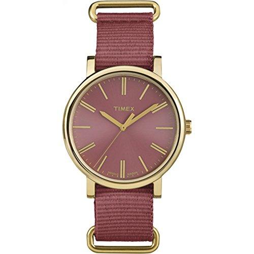 タイメックス 腕時計 レディース TW2P78200 【送料無料】Timex Women's TW2P78200 Originals Tonal Marsala Nylon Slip-Thru Strap Watchタイメックス 腕時計 レディース TW2P78200
