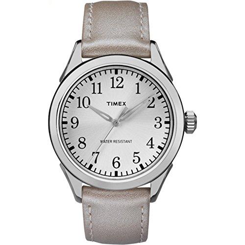 タイメックス 腕時計 レディース TW2P99400 Timex Women's TW2P99400 Briarwood Terrace Silver-Tone Leather Strap Watchタイメックス 腕時計 レディース TW2P99400
