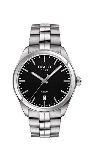 ティソ 腕時計 メンズ T1014101105100 【送料無料】Tissot Men's T1014101105100 PR 100 Analog Display Swiss Quartz Silver Watchティソ 腕時計 メンズ T1014101105100