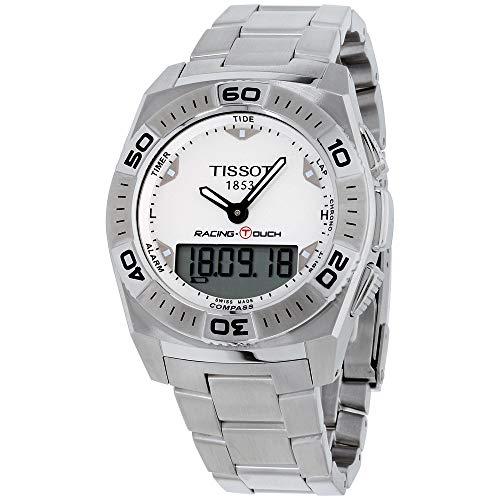 腕時計 ティソ メンズ T0025201103100 【送料無料】Tissot Racing Touch White Dial Stainless Steel Men's Watch T0025201103100腕時計 ティソ メンズ T0025201103100