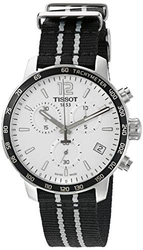 ティソ 腕時計 メンズ T0954171703707 Tissot Men's 'Quickster' Swiss Quartz Stainless Steel and Nylon Watch, Color:Black (Model: T0954171703707)ティソ 腕時計 メンズ T0954171703707