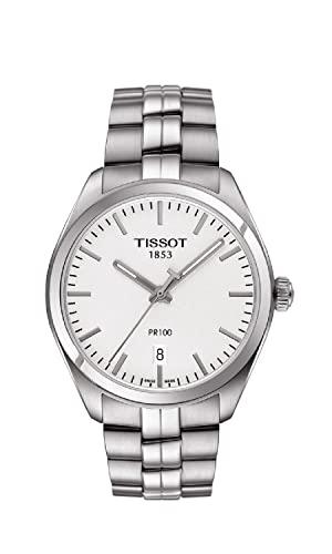 ティソ 腕時計 メンズ T1014101103100 【送料無料】Tissot PR100 Silver Dial Stainless Steel Quartz Men's Watch T1014101103100ティソ 腕時計 メンズ T1014101103100