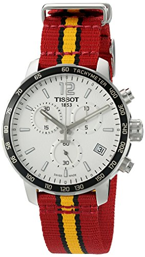 ティソ 腕時計 メンズ T0954171703708 【送料無料】Tissot Men's 'Quickster' Swiss Quartz Stainless Steel and Nylon Watch, Multi Color (Model: T0954171703708)ティソ 腕時計 メンズ T0954171703708