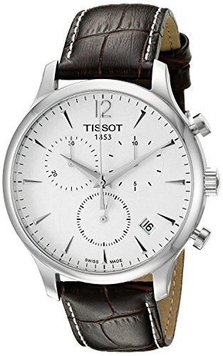 ティソ 腕時計 メンズ T0636171603700 【送料無料】Tissot T0636171603700 Tradition Men's Chrono Quartz Silver Dial Watch with Brown Leather Strapティソ 腕時計 メンズ T0636171603700