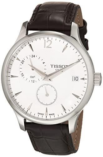ティソ 腕時計 メンズ T0636391603700 【送料無料】Tissot Tradition GMT Leather Mens Watch - Brownティソ 腕時計 メンズ T0636391603700