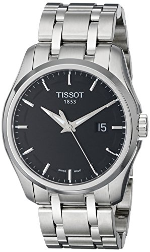 ティソ 腕時計 メンズ T0354101105100 【送料無料】Tissot Men's T0354101105100 Couturier Black Dial Stainless Steel Watchティソ 腕時計 メンズ T0354101105100