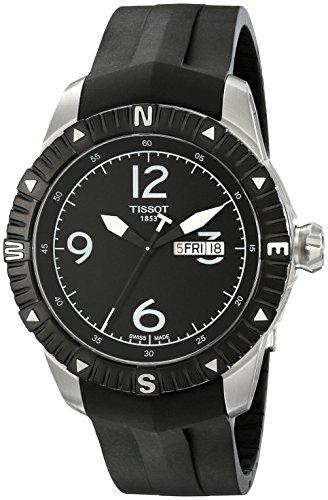 ティソ 腕時計 メンズ T062.430.17.057.00 【送料無料】Tissot Men's 'T Navigator' Black Dial Black Rubber Strap DateDay Automatic Watch T062.430.17.057.00ティソ 腕時計 メンズ T062.430.17.057.00