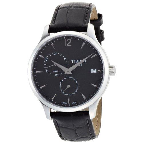 ティソ 腕時計 レディース T0636391605700 【送料無料】TISSOT Tradition GMT Black Leather T0636391605700ティソ 腕時計 レディース T0636391605700