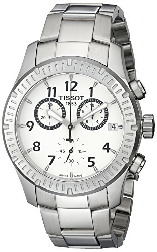 ティソ 腕時計 メンズ T0394171103700 Tissot Men's T0394171103700 V8 Analog Display Swiss Quartz Silver Watchティソ 腕時計 メンズ T0394171103700
