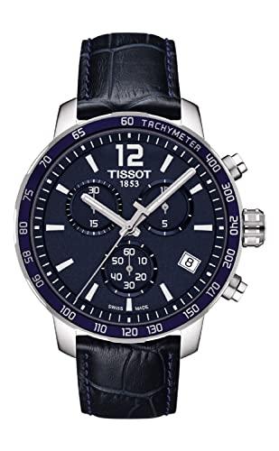 ティソ 腕時計 メンズ T0954171604700 【送料無料】Tissot Men's Quickster T095.417.16.047.00 Blue Leather Swiss Quartz Watchティソ 腕時計 メンズ T0954171604700
